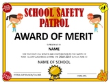 School Safety Patrol Certificate