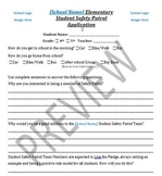 School Safety Patrol Student Application
