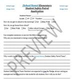 School Safety Patrol Student Application