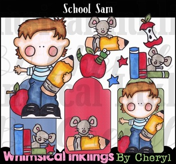 School Sam Clipart Collection