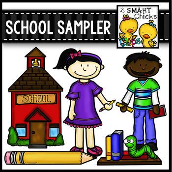 School Sampler Clip Art FREEBIE