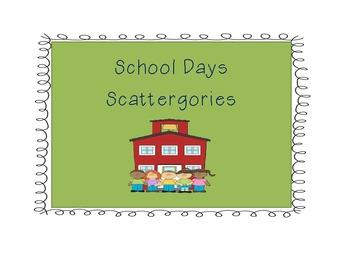 School Scattergories