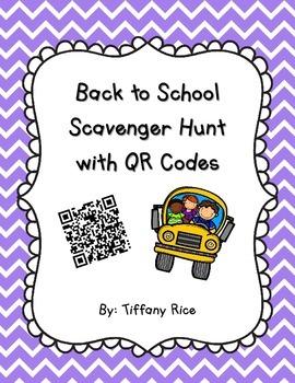 School Scavenger Hunt with QR Codes