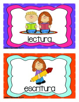 School Schedule Cards (en español)