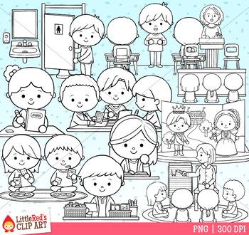 School Schedule Clip Art 3