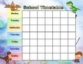 School Schedule Dinosaur Theme