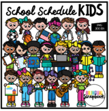 School Schedule Kids (Clip Art for Personal & Commercial Use)