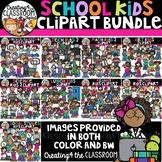 School Kids Clipart Bundle {Back to School Clipart}