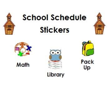 School Schedule Stickers