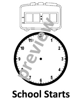 School Schedule Telling Time - Editable