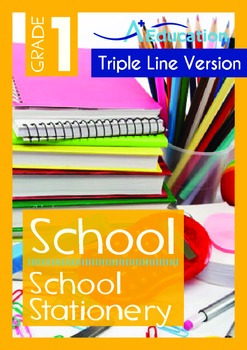 School - School Stationery (with 'Triple-Track Writing Lines')