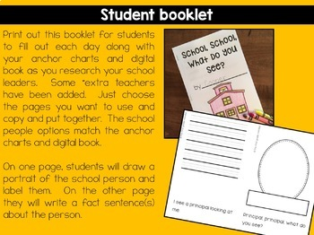 School Helpers Anchor Charts And Booklet