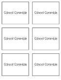 School Scramble Cards