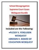 School Segregation & Desegregation (Jim Crow Laws) Supreme Court Webquest Bundle