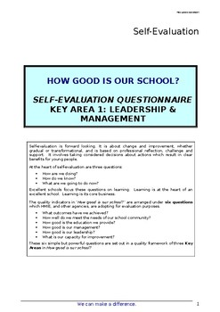 School Self Evaluation Leadership and Management