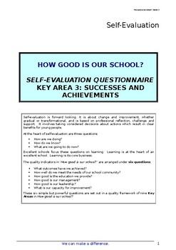 School Self Evaluation Successes and Achievements