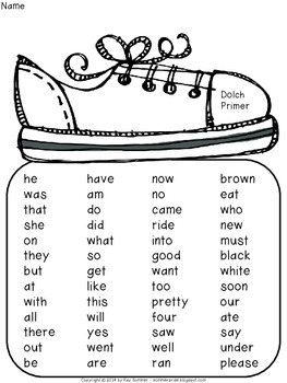 Sight Words {Dolch Primer}