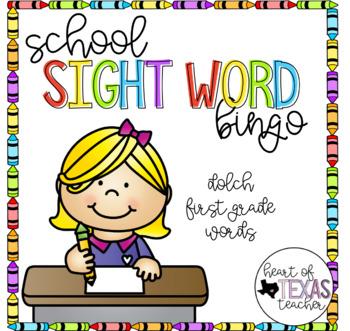 School Sight Word Bingo {Dolch 1st Grade}