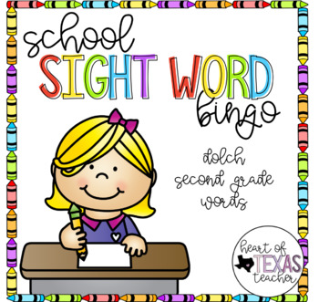 School Sight Word Bingo {Dolch 2nd Grade}