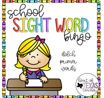 School Sight Word Bingo {Dolch Primer}