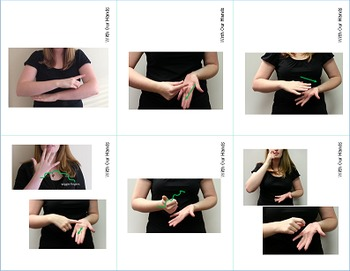 School Sign Language (ASL) Cards