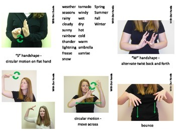 School Sign Language (ASL) Vocab Card SUPERPACK!!