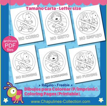 School Signs Coloring Pages - Señalamientos para Escuela Dibujos ...