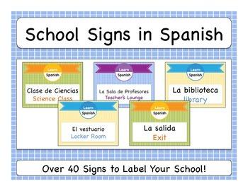 School Signs in Spanish