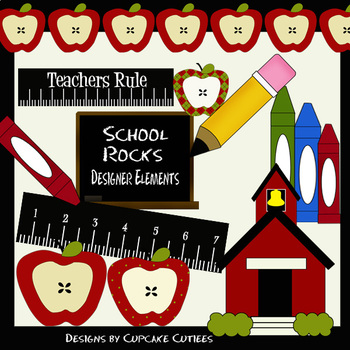 School Simple Digital Clip Art Digital Graphics -Commercial Use