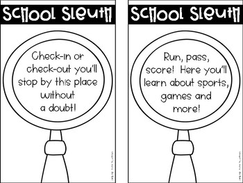 School Sleuth {A School-wide tour activity with riddles and QR codes}
