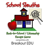 School Sleuths Back to School & Citizenship Breakout / Escape Game