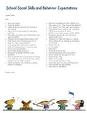 School Social Skills and Behavior Expectations