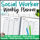 School Social Worker Planner Dated & Weekly 2020-2021