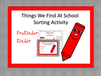 School Sort Sorting Activity