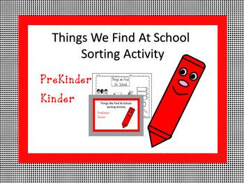 School Sort Sorting Activity