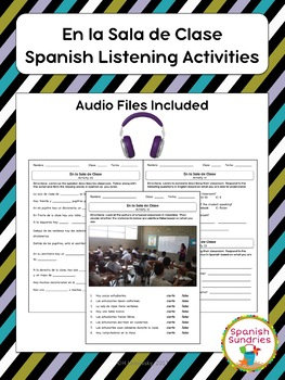 School Spanish Listening Activities