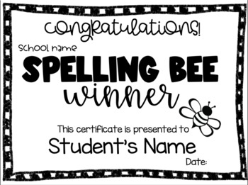 School Spelling Bee BUNDLE