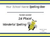 School Spelling Bee Certificates