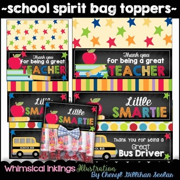 School Spirit Bag Topper Printables