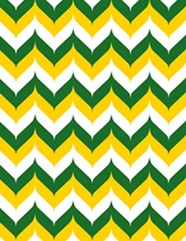 "School Spirit Chevron Backgrounds, 20-Pack (8.5"" x 11"")"