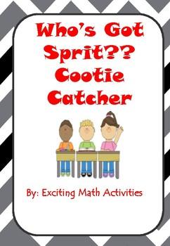 School Spirit Cootie Catcher (Fortune Teller)
