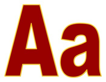 School Spirit Maroon and Gold Letters