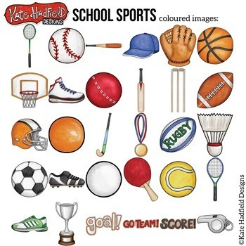 "Sports Clip Art: ""School Sports"""