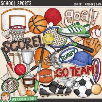 """Sports Clip Art: """"School Sports"""""""