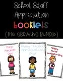 School Staff Appreciation Booklets - Growing Bundle!