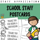School Staff Appreciation Postcards