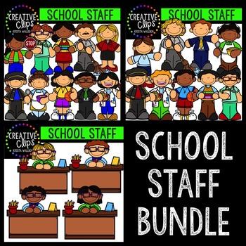 School Staff Bundle {Creative Clips Digital Clipart}