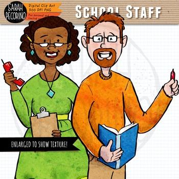 School Staff Clip Art by Sarah Pecorino Illustration | TpT