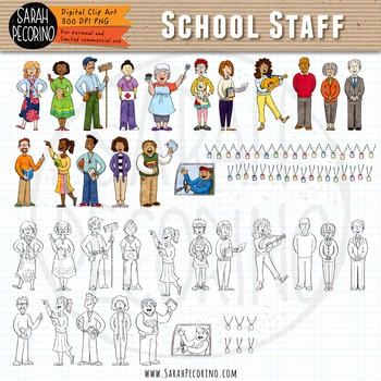 School Staff Clip Art