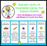 School Staff Random Acts of Kindness Challenge Cards